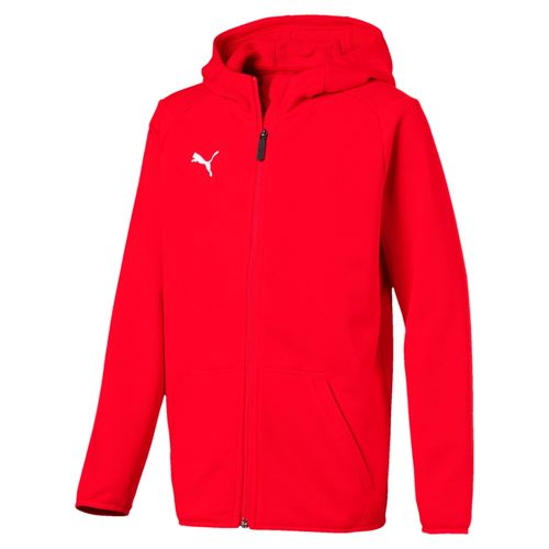 Puma Liga Casuals Hoody Jacket JR 655938 01 red